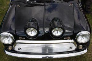 Mini Bonnet Frog eye black