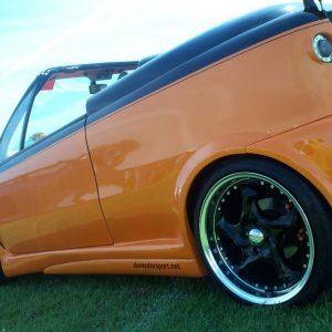 GT R rear arch - 2 piece NS fitted orange 2